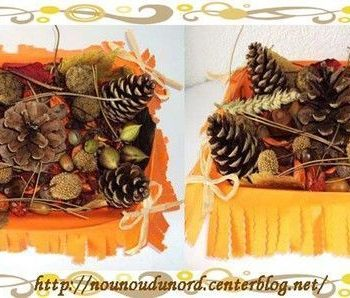 corbeille d'automne idée créative nounoudunord