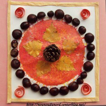 decoration avec des marrons nounoudunord
