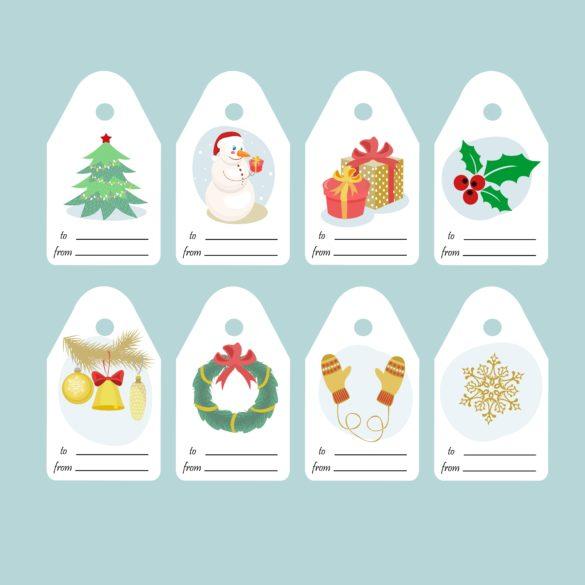 tag et etiquettes pour cadeau