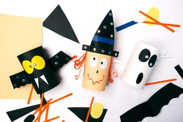 Hallowenn : idées créative avec du matériel de récup, rouleaux en carton