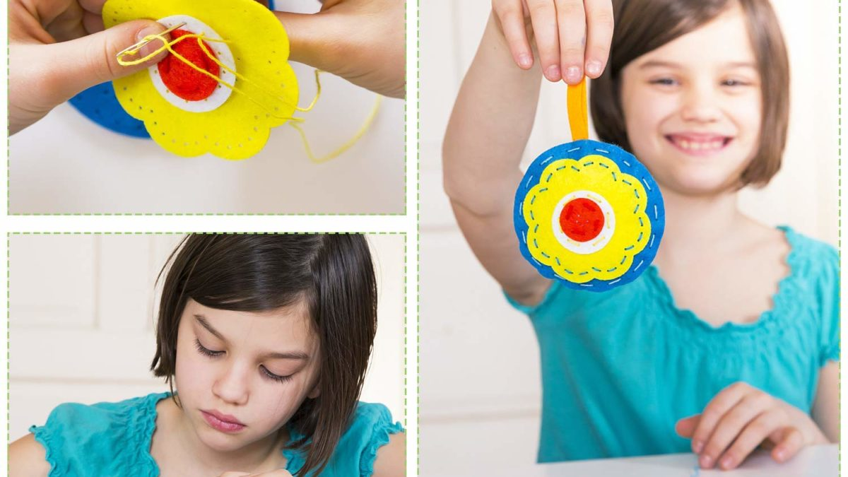 bricolage, activités manuelles, loisirs créatifs avec de la feutrine : kit de création couture facile feutrine pour enfants et adolescents