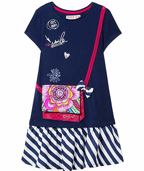 DESIGUAL : robe et jupe fille 2 ans, 3 ans, 4 ans, 5 ans, 6 ans, 7 ans, 8 ans, 9 ans, 10 ans, 11 ans et 12 ans – mode desigual enfant fille robe et jupe