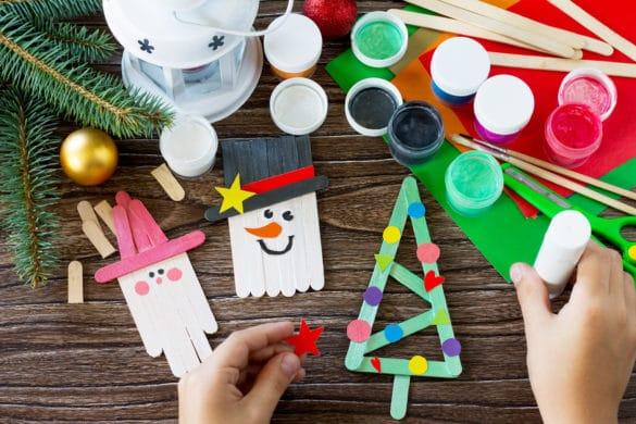 idées créatives art plastique avec les enfants pour noel