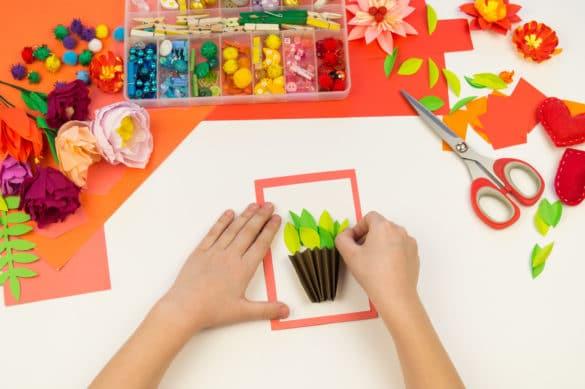 matériel de loisirs créatifs pour enfant : nature et printemps