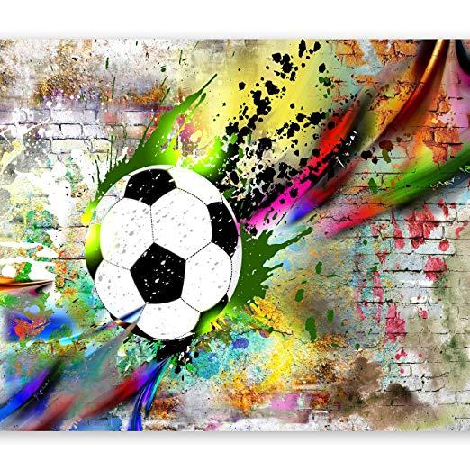 deco murale foot : decoration chambre enfant sur le thème du football – deco chambre garçon foot : toiles, tableaux, papiers peint, stickers