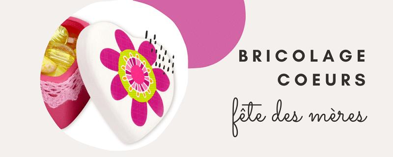 bricolage fête des mères : fabriquer une boîte coeur pour gâter les mamans ; idée cadeau facile à fabriquer pour la fête des mères