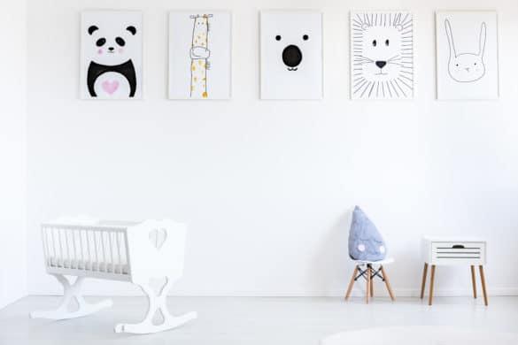 decoration murale animaux chambre bébé et enfant