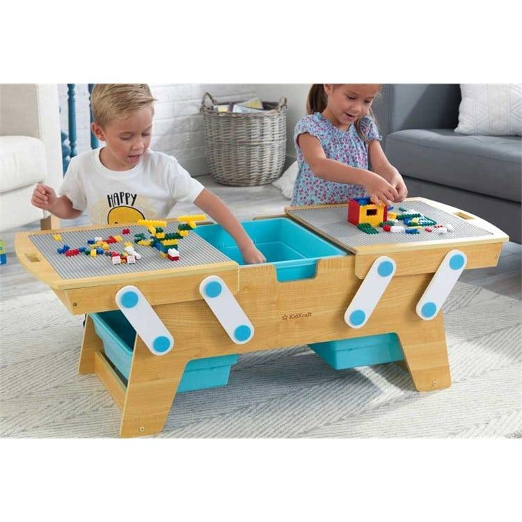 Ideal Pour Jouer Avec Des Lego Ou Des Duplo La Table Ronde De Construction Pour Enfants De 3 A 8 Ans Un Max D Idees