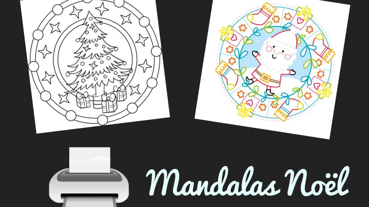 mandala de noel à imprimer pour colorier – Dessins et mandalas noel pour coloriages