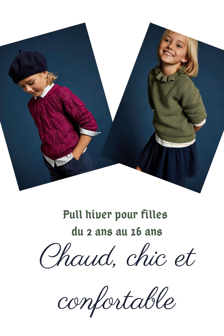 affiche pull pour fille
