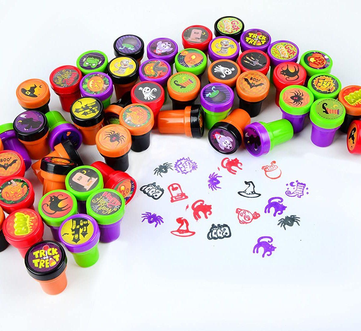 tampons halloween pré encré pour enfant loisirs créatifs
