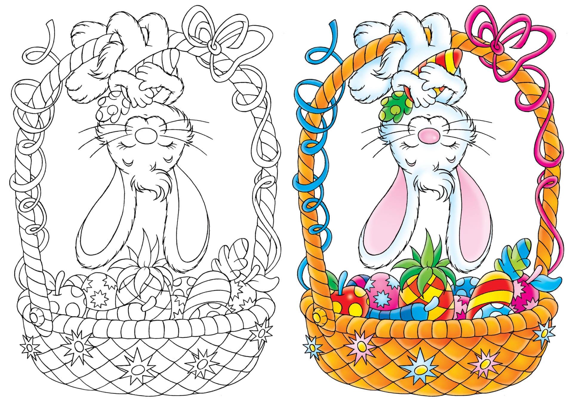 Coloriage Dessin Paques Imprimer.Pinterest Coloriages De Paques Gratuits A Imprimer