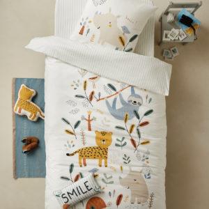 Acheter du linge de lit 140 x 200 pour enfant ; housse de couette, parure de couette pour enfant fille ou garçon pas cher ; linge de lit enfant pas cher 140 x 200