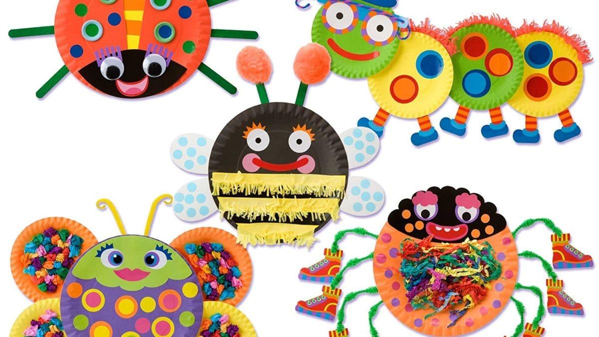 Activités et bricolage avec assiettes en carton : fabriquer des animaux avec des assiettes en carton ; activités maternelle assiettes en carton