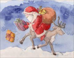 Modèle à peindre pour cartes de noel, carte de voeux : le cadeau de Delphine, illustratrice jeunesse