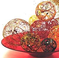 Déco créative de Noel – Fabriquer des boules de Noel pour le sapin avec de la ficelle – Le bricolage de Noel