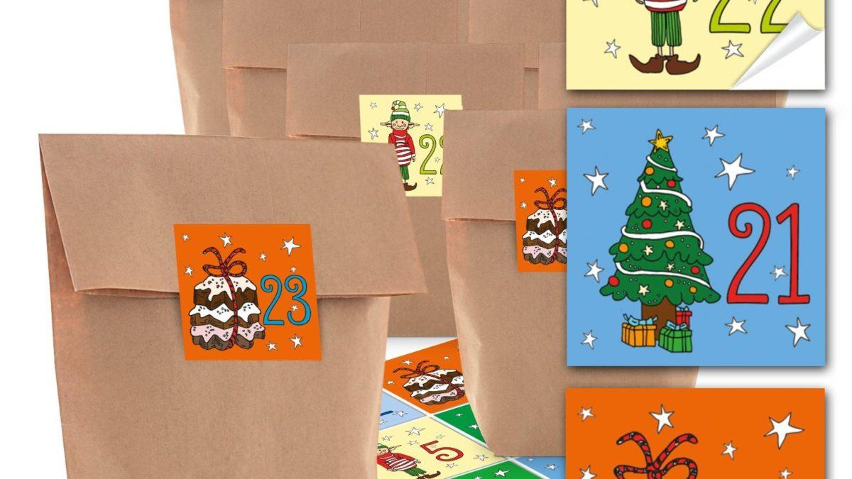 Fabriquer un calendrier de l'avent – bricolage de Noël : Imprimer, découper et réaliser l'assemblage d'un calendrier de l'avent