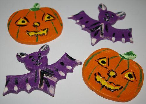 bricolage facile pour enfant : décoration halloween pour sachet de bonbon, pâte à sel pour halloween