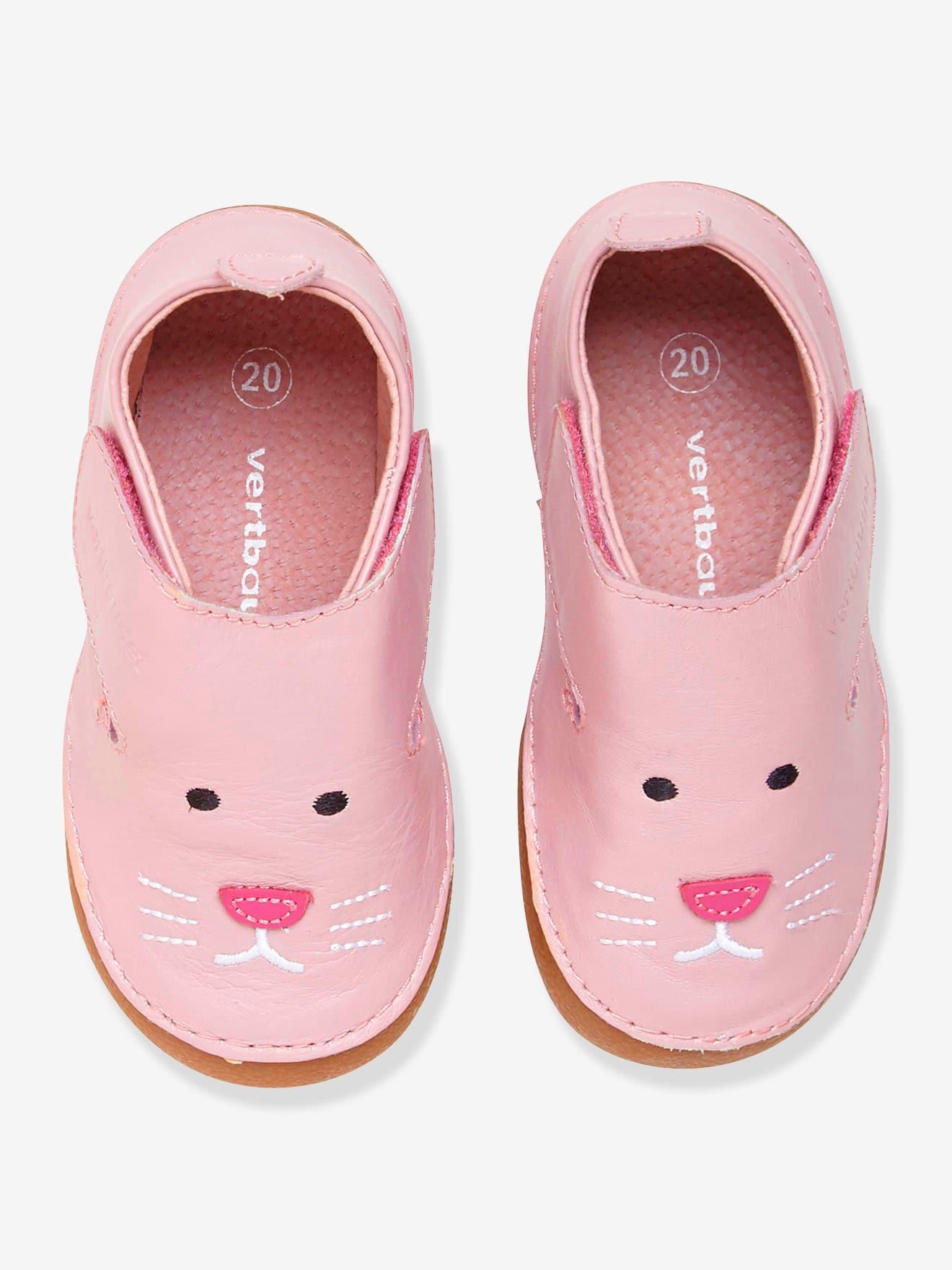 en stock a5ee5 41c48 Chaussons en cuir souple pour les petites filles - Un max d ...