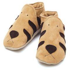 chaussons en cuir souple pour les petits pieds : Chaussons Tigre