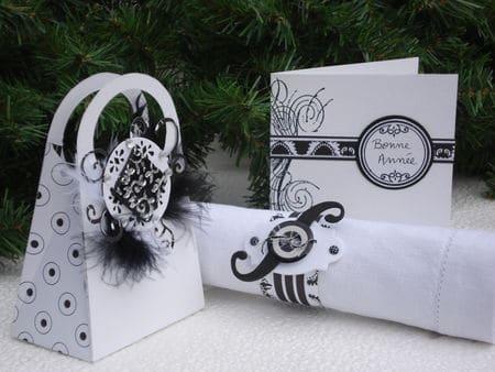 Fabriquer son décor de table en noir et blanc pour les fans de Scrapbooking – Ambiance chic et sobre pour décorer une table de fête