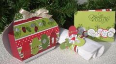 Scrapbooking : Bonbon suprise, petit sac pour offrir des chocolats et carte de voeux – Les nouvelles créations de Miss en scrap