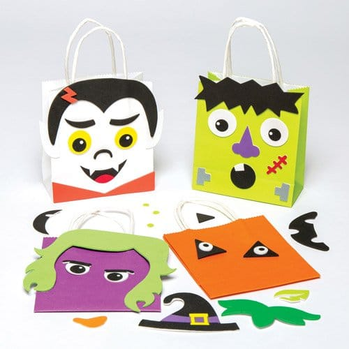 Free bag halloween craft patterns, halloween craft ideas – Bricolage enfant sac à bonbons pour Halloween
