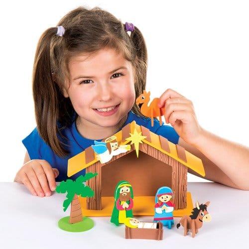 Idée de déco à faire soi-meme : fabriquer une crèche avec les enfants – Loisirs créatifs, décoration religieuse de Noël