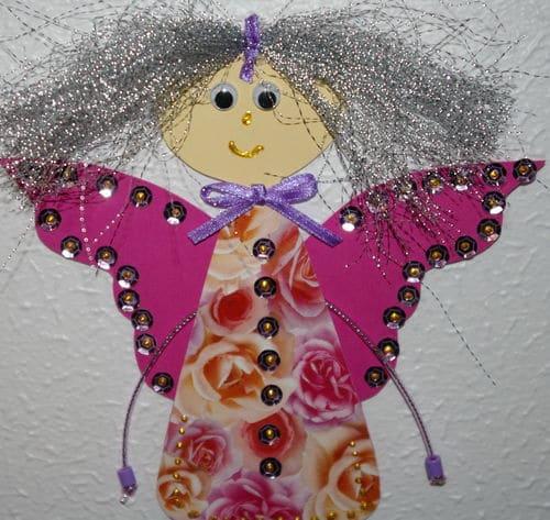 Ange de noel pour décorer le sapin, fabriquer la decoration pour le sapin de noel avec les enfants
