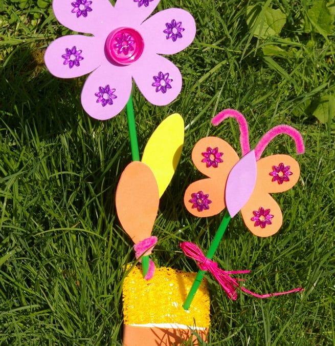 idée simple et facile pour bricoler avec les enfants – idée créative pour la fête des mères à réaliser à l'école ou chez une assistante maternelle