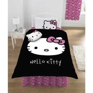 Housse de couette hello kitty 140 x 200, 200 x 200, 220 x 240 – housse, parure, linge de lit enfant hello kitty pas cher