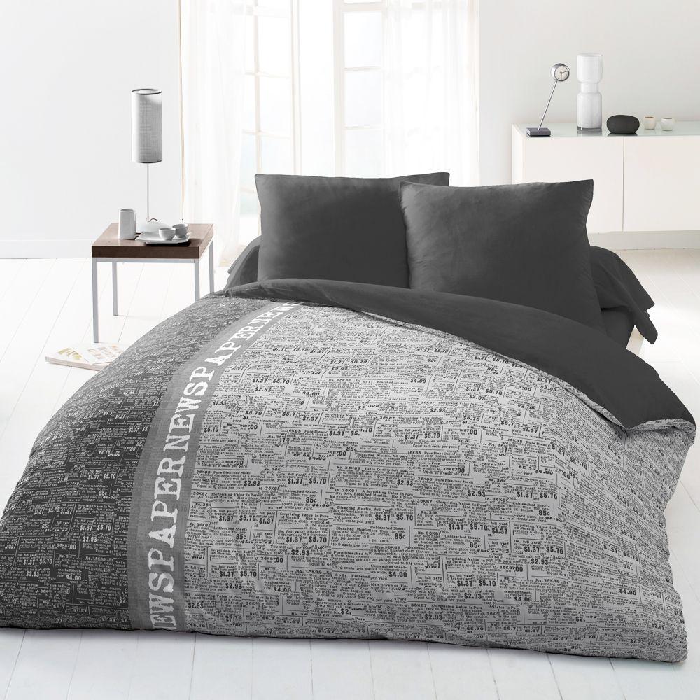 Housse De Couette Noir Blanc Gris housse de couette pour ado - linge de lit et parure de