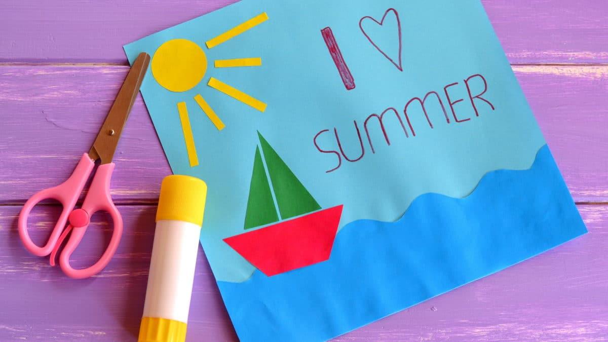 Activités manuelles bricolage été : matériel et fournitures, idées bricolage enfant thème plage, mer, sable, coquillage, poissons, glace