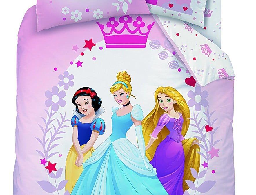 Housse de couette pour fille : princesses disney : la housse de couette et la taie d'oreiller pour un lit de princesse