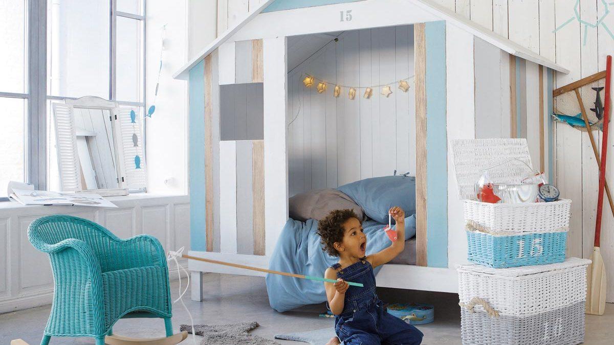 lit cabane enfant : lit cabane en bois pour enfant pour aménager une chambre et gagner de l'espace, lit cabane pas cher
