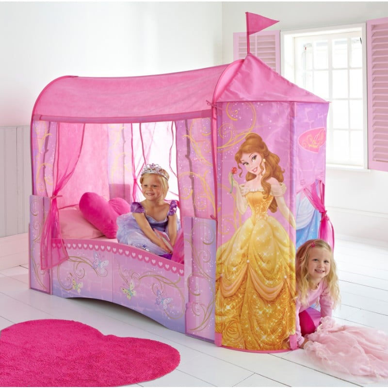 Lit ch teau de princesse meubler une chambre de - Lit chateau pour petite fille ...
