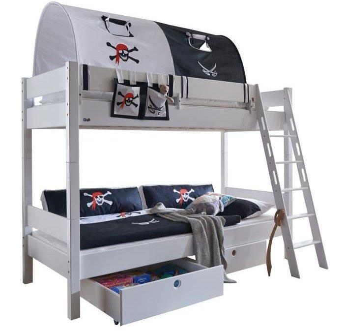 lit pirate, lit pour chambre de pirate et housse de couette de pirate : meuble et linge de lit pour pirate – chambre enfant pirate