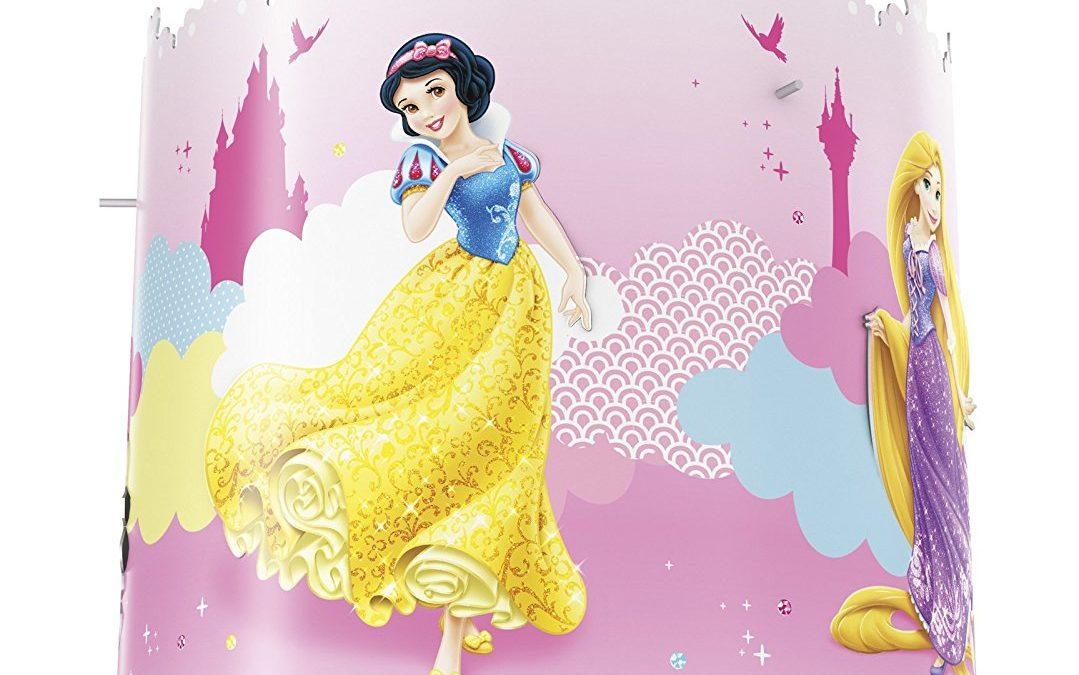 lampe à poser, lampe de chevet, luminaire de princesses disney pour décorer une chambre de princesse