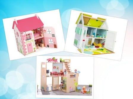maison de poupée en bois pour enfant