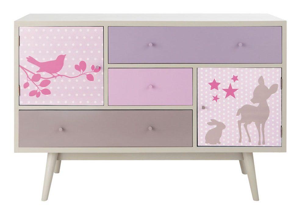 Meuble de rangement chambre fille ; mobilier et meuble pour ranger une chambre de fille, meuble bas, commode, penderie, dressing pour chambre de fille de 3 ans à 12 ans