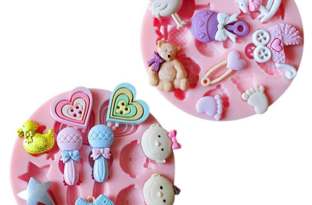 Moule décoration gâteau 3D, matériel pour fabriquer deco de gâteau, pâtisserie et dessert : moule silicone mini deco pâte à sucre, emporte-pièces, poussoirs, découpoirs