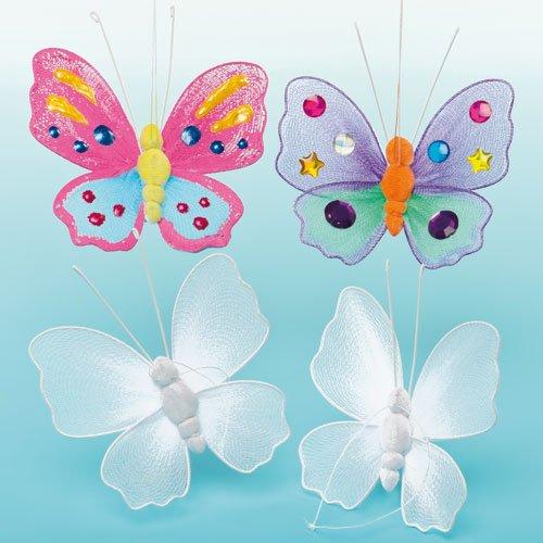 Activités manuelles avec les enfants : Fleurs et papillons à décorer pour enfant de 5 à 12 ans