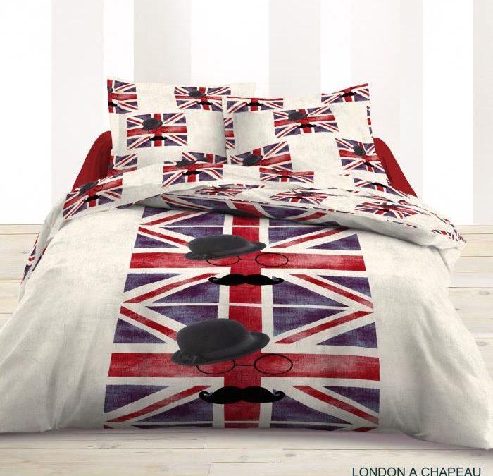 Housse de couette londres, london – Linge de lit londres, parure de couette londres pour enfant, ado, adulescent, junior, adultes