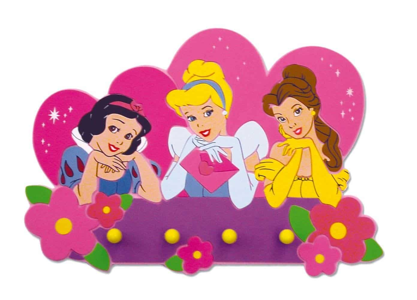 DisneyRangement Princesses Porte Murale Manteau Accorche Et W2I9EHDY