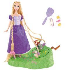 poupée princesse raiponce aux longs cheveux : cadeau fille de 3 ans, 4 ans, 5 ans,  6 ans,  et plus