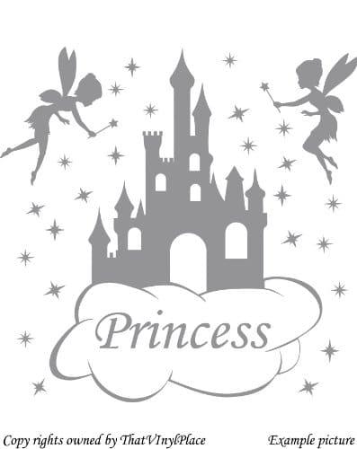 décoration murale avec sticker château de princesse – toute la décoration  facile à prix malin  pour une chambre de princesse