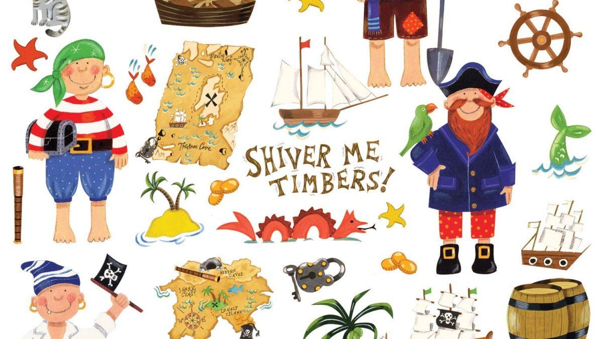 Stickers muraux de pirates pour chambre d'enfant – Décorer une chambre de garçon avec des stickers muraux sur le thème des pirates