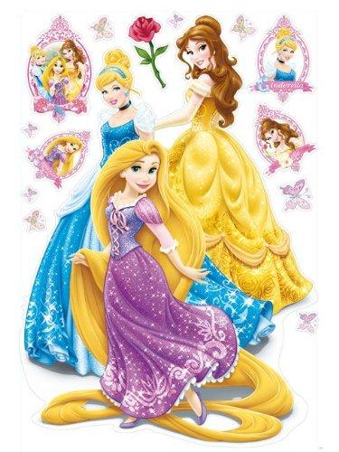 3 superbes stickers muraux de Princesses Disney : une jolie décoration de princesses à coller sur les murs
