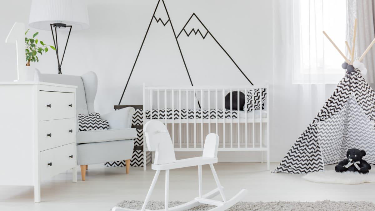 Noir et blanc : idées déco pour chambre bébé & enfant