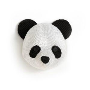 tête de panda à accrocher au mur
